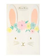 Floral Bunny Napkins Meri Meri, Pack