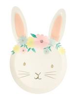Floral Bunny Plates, Meri Meri
