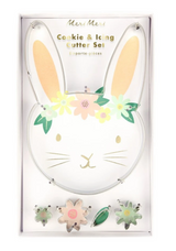 Floral Bunny Cookie Cutter and icing cutter, Meri Meri