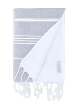 Basic Child's Beach Towel, light grey from Turkish-T, reversible turkish towel and terry cloth towel