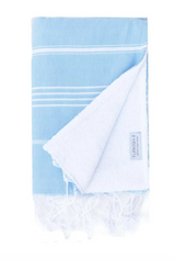 Basic Child's Beach Towel, light blue from Turkish-T, reversible turkish towel and terry cloth towel