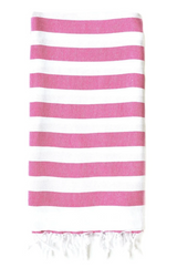 Rugby towel, Fuchsia from Turkish-T, 100% cotton beach towel