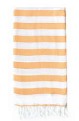 Hand towel, Rugby Stripe, Burned orange and white