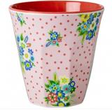 Melamine Medium cup with Vintage Flower print from Rice.dk