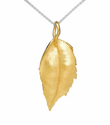 Lysning, Gold plated sterling silver necklace from Norwegian jeweler Huldresolv, Huldresovl in the US
