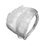 Blad, Sterling silver ring, Adjustable from Norwegian jeweler Huldresolv, Huldresolv in the US