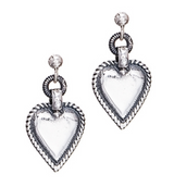 Pointed heart earrings, from Norwegian Huldresolv