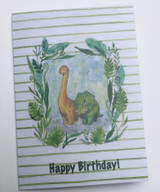 Greeting card, dinosaurs, artwork by Norwegian Artist Anette Grostad, Lille Storm Design