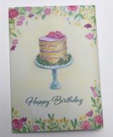 Greeting card, Cake, By Norwegian Illustrator Anette Grostad, Lille Storm Design