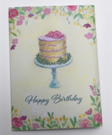 Greeting card, Cake, By Norwegian Illustrator Anette Grostad, Lille Storm Design