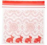 Ziplock bags with sweet print of bunnies, from Rice.dk, Rice in the US