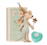 Tooth Fairy, Big Brother in matchbox with heart shaped box for tooth. Made by Maileg, Danish design