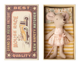Little Sister, Maileg mouse with matchbox, Danish Design