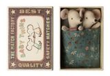 Baby Mice, Twins in a matchbox, Danish Design by Maileg