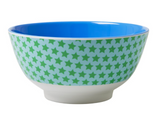 Large Melamine two tone bowl, STAR14 print, By Rice.dk