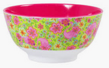 Large Melamine two tone bowl, SWIM print, By Rice.dk