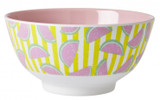 Large Melamine two tone bowl, Melon print, By Rice.dk