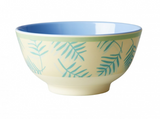 Large Melamine two tone bowl, LEAVES print, By Rice.dk