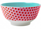 Large Melamine two tone bowl, RED STAR print, By Rice.dk