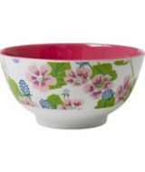 Melamine Bowl Two Tone with Blossom & Berries Print