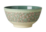 Large Melamine two tone bowl, MINI FLOWER print, By Rice.dk