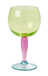Acrylic wine glass, multi colored, by Rice.dk