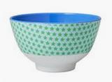 Small Melamine Bowl, Green Star Print