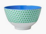 Small Melamine Bowl, Green Star Print