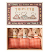 Triplet Baby mice in Matchbox from Maileg