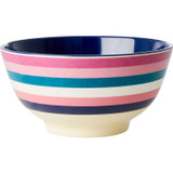 Large Melamine two tone bowl, Stripe print, By Rice.dk