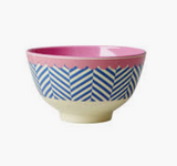 Small Melamine Bowl, Sailor Stripes Print