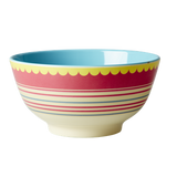 Large Melamine two tone bowl, Stripes print, By Rice.dk