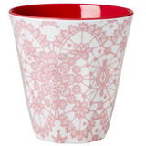 Melamine Medium cup with Lace Print from Rice.dk