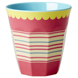 Melamine Medium cup with Stripes print from Rice.dk