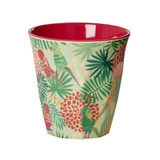 Melamine Medium cup with Tropical print from Rice.dk