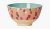 Small Melamine Bowl, Coral Dapper Dots Print
