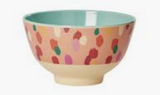 Small Melamine Bowl, Coral Dapper Dots Print