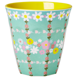 Melamine Medium cup with Retro Flower print from Rice.dk