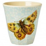 Melamine Medium cup with Butterfly and Small Flower print from Rice.dk