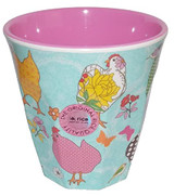Melamine Medium cup with Blue Hen print from Rice.dk