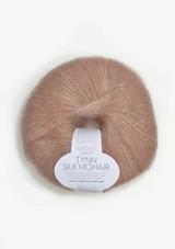 Tynn Silk Mohair, Dusty Pink. Sandnes Garn in the US, Norwegian made yarn. Pudder rosa