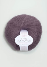 Tynn Silk Mohair, Dusty Purple 5042. Sandnes Garn from Norway