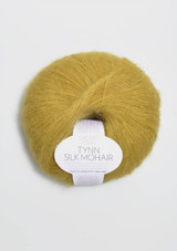 Tynn Silk Mohair, Yellow Green 2024, Sandnes Garn from Norway