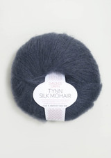 Tynn Silk Mohair, Deep Blue 6081, Sandnes Garn from Norway