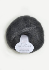 Tynn Silk Mohair, Steel Grey 6707, Sandnes Garn from Norway, Stålgrå