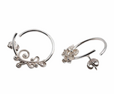 Fabel Earring, Ear loops in Sterling silver, Made by Huldresolv, Norwegian Made jewelry from Huldresolv