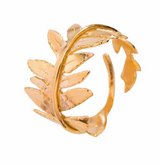 Bregne Ring, gold plated ring from Huldresolv in Norway, Sterling SIlver jewelry.