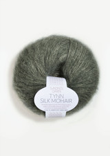 Tynn Silk Mohair, Dusty Olive Green, Sandnes Garn, Norwegian Made Yarn