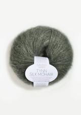 Tynn Silk Mohair, Dusty Olive Green, Sandnes Garn, Norwegian Made Yarn