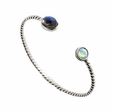 Bracelet in Sterling Silver and Labradorite by Hundlresolv, Norwegian jeweler